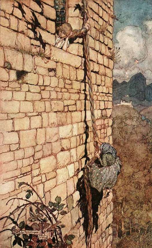 rapunzel-illustration-arthur-rackham